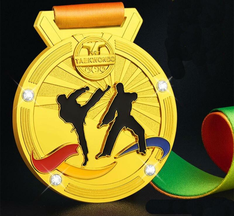 High Quality!Taekwondo Medal Souvenir Martial Arts Competition Metal Medal,Free Shipping!