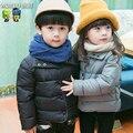 Ropa de los niños Niñas Abrigo de Invierno 2015 de Moda Chaquetas de Invierno Para Las Adolescentes de Color Sólido Cómodo Niñas Ropa de Invierno