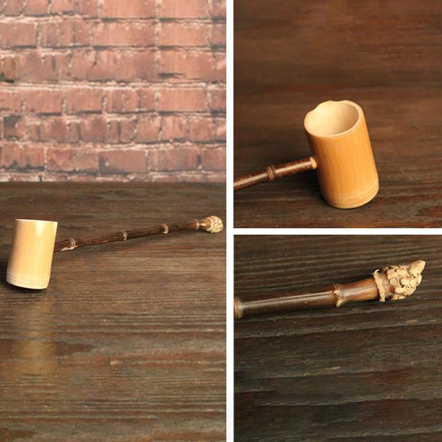 Handmade Natural Bamboo Retro Water Wine Bailer Eco-friendly Japanese Tea Ceremony Accessories Green Tea Matcha Teaset Tools New