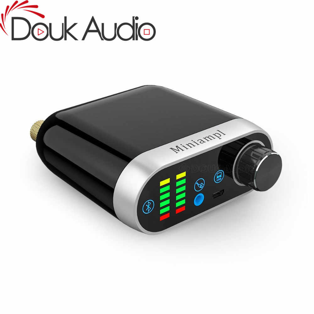 Douk audio HiFi Mini Bluetooth 5.0 HiFi Power Amplifier Class D Tpa3116 Digital Amp USB Sound Card AUX 50W*2 Home audio