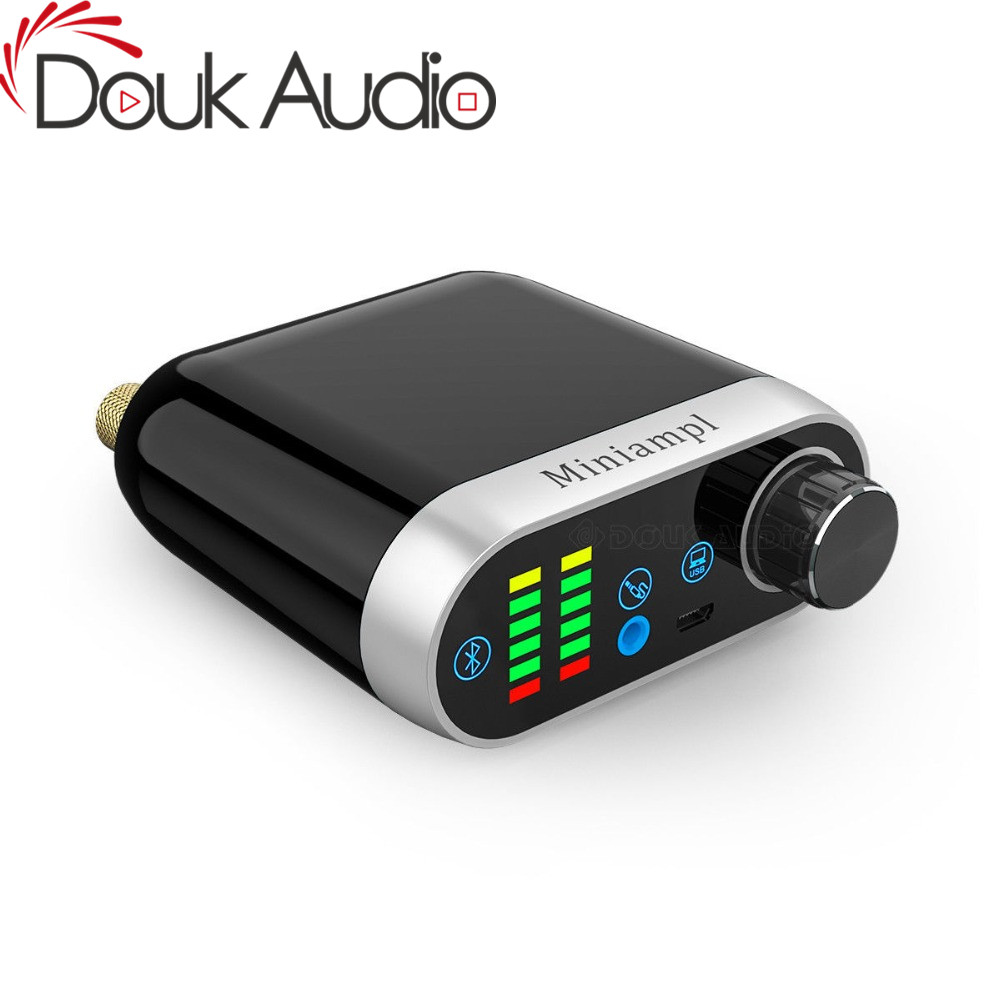 Douk audio HiFi Mini Bluetooth 5 0 HiFi Power Amplifier Class D Tpa3116 Digital Amp USB Sound Card AUX 50W 2 Home audio