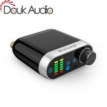 Douk ses HiFi Mini Bluetooth 5.0 HiFi güç amplifikatörü sınıf D Tpa3116 dijital Amp USB ses kartı AUX 50W * 2 ev ses