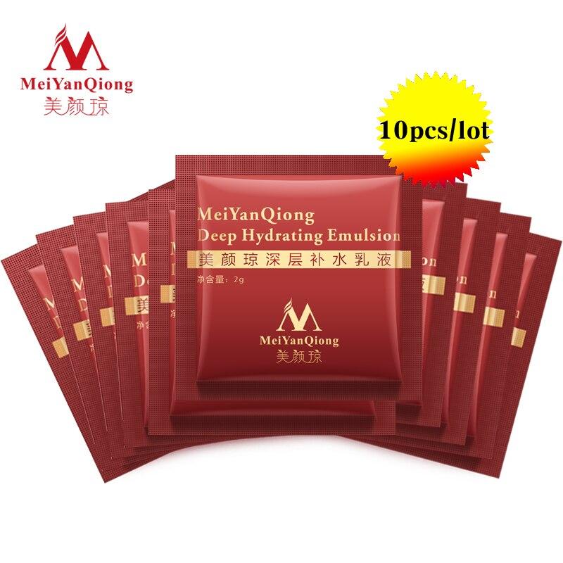 MeiYanQiong 10pcs Deep Hydrating Emulsion Hyaluronic Acid Moisturizing Face Cream Care Whitening Anti Winkles Lift Firming TSLM2