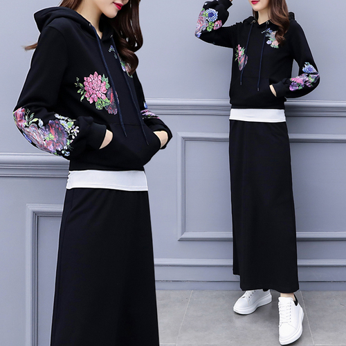 Vogue Two Piece Set Crop Top And Skirt Set Woman Suit Stylish Conjunto  Moleton Feminino Year-old Female Costume Tracksuit Women. 2 orders 4f21dbb85c8e