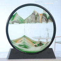 flowing sand pictures painting gift moving hills landscapes desktop decor art diy drawing toy 3D dynamic craft home decoration