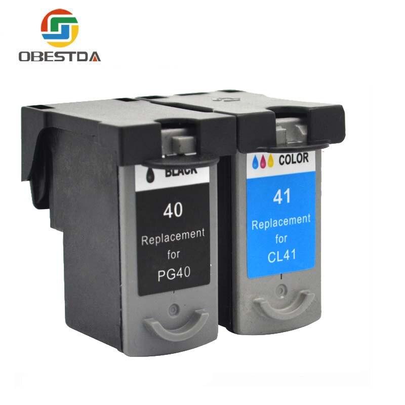 Obestda Compatible ink cartridges For Canon PG40 CL41 PG 40 CL 41 iP1600 IP1700 IP1800 PG
