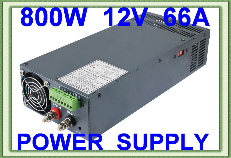 High quality AC DC SCN-800W 12V single output 66A led driver switching power supply limit switches scn 1633sc