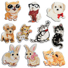 Embroidery Iron on Cartoon Patch Clothes Applique Children Patches for Clothing Decorative Stickers Applications Badges