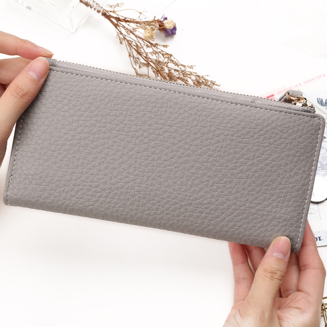 Top Quality Latest Lovely Leather Long Women Wallet Fashion Girls Change Clasp Purse Money Coin Card Holders wallets