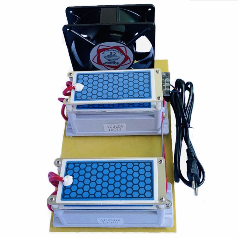 Portable Ceramic Ozone Generator 220V/110V 20g Double Integrated Long Life Ceramic Plate Ozonizer Air Water Air Purifier