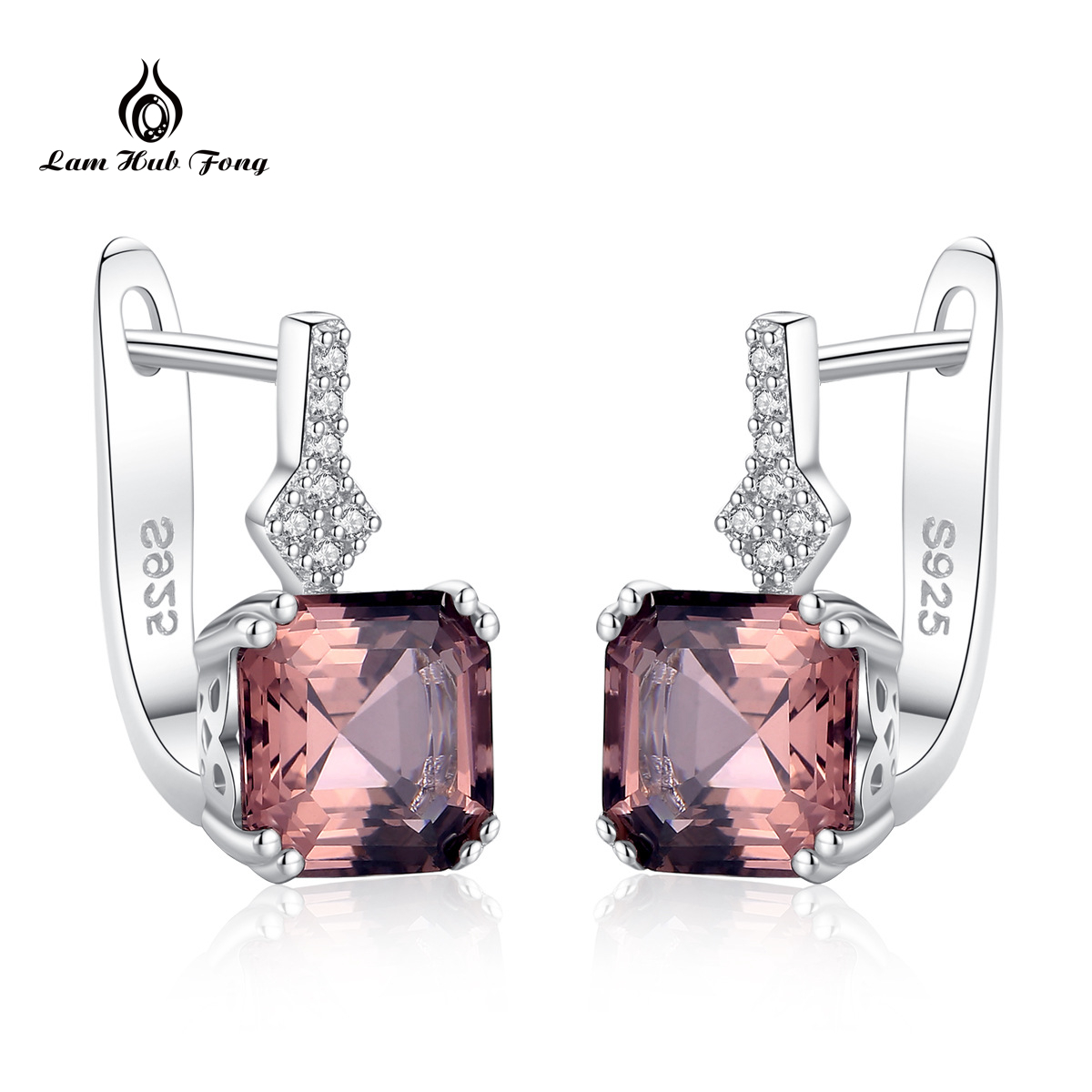 Stud Earring Fine-Jewelry Gemstone Silver Topaz 925-Sterling-Silver White Women for Daily