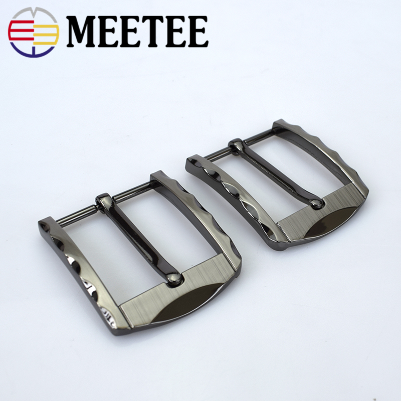 Meetee 40mm Hot Sale Men Belt Buckle Alloy Pin Buckle DIY Buckle Head Accessories Clothing Jeans Belt Decoration ...