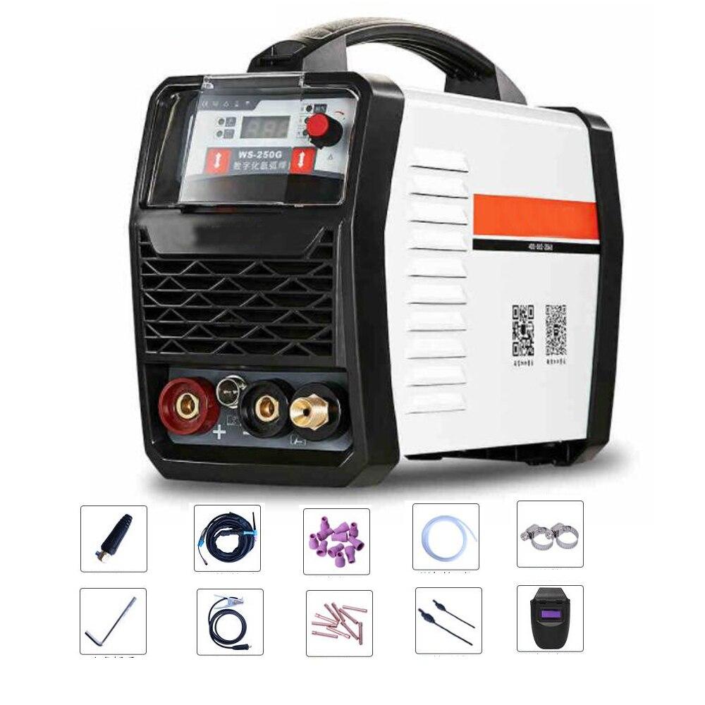 EU 220V 250G LED Digital Argon Inverter Arc Welding Machine WS 250 MOS TIG MMA Welder