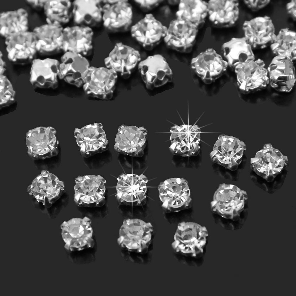 4mm 200pcs Charm Sparkle Clear Crystal Rhinestones Sew On Craft Dress Making Hot Sewing Accessories Craft Supplies image