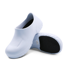 Hotel White Chef Shoes Restaurant Cook Non-slip Slippers Kitchen Work Oil-Proof Water-Proof for Flat Safety Shoes