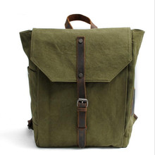 New Multi-function men backpack Canvas encryption canvas bag laptop bag leisure men travel bag