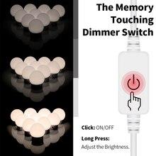 Stepless Dimmable Led Dressing Table Mirror Lamp 12V Vanity Makeup Backlight Bulbs Kit USB Wall for Bathroom