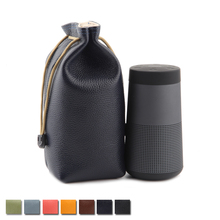 2019 Top Grain Leather Carry Protective Storage Box Pouch Cover Bag Case For Bose SoundLink Revolve Wireless Bluetooth Speaker цена