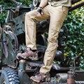 Mens Calça De Carga Macacões Multi-bolso Qualidade Algodão Casual Calças de Carga Militar Cáqui Preto Marrom 40 42