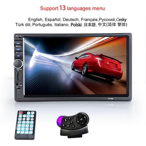"Hipppcron Автомагнитола HD "" сенсорный экран стерео 2 Din Bluetooth FM ISO мощность SD USB Aux вход Mp5 плеер нет или с камерой - Цвет: Type 2"