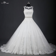 yiaibridal RSW951 Illusion Ball Gown Wedding Dresses