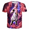 Newest Tie Dye T-Shirts Women Men Harajuku Tee Shirts Anime t shirts Dragon Ball Z Majin Buu Tees Hipster 3D t shirt tops