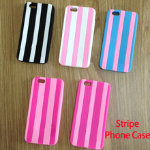 Sexy Fashion For iPhone 6Plus 6 5 4 S SE Pink Soft Silicone Stripe Luxury Phone