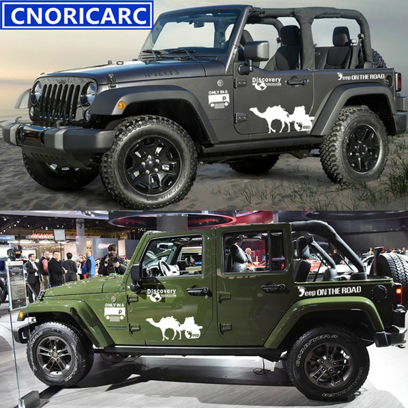 cnoricarc car stripes sport styling off road kk decal discovery small feet camel auto side body. Black Bedroom Furniture Sets. Home Design Ideas