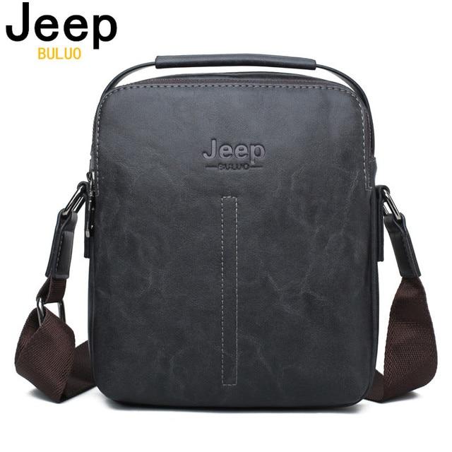 JEEP BULUO Men Messenger Bag Hot Sale Male Fashion Leather Crossbody Shoulder Bags High Quality Men's Travel New Handbags 1038