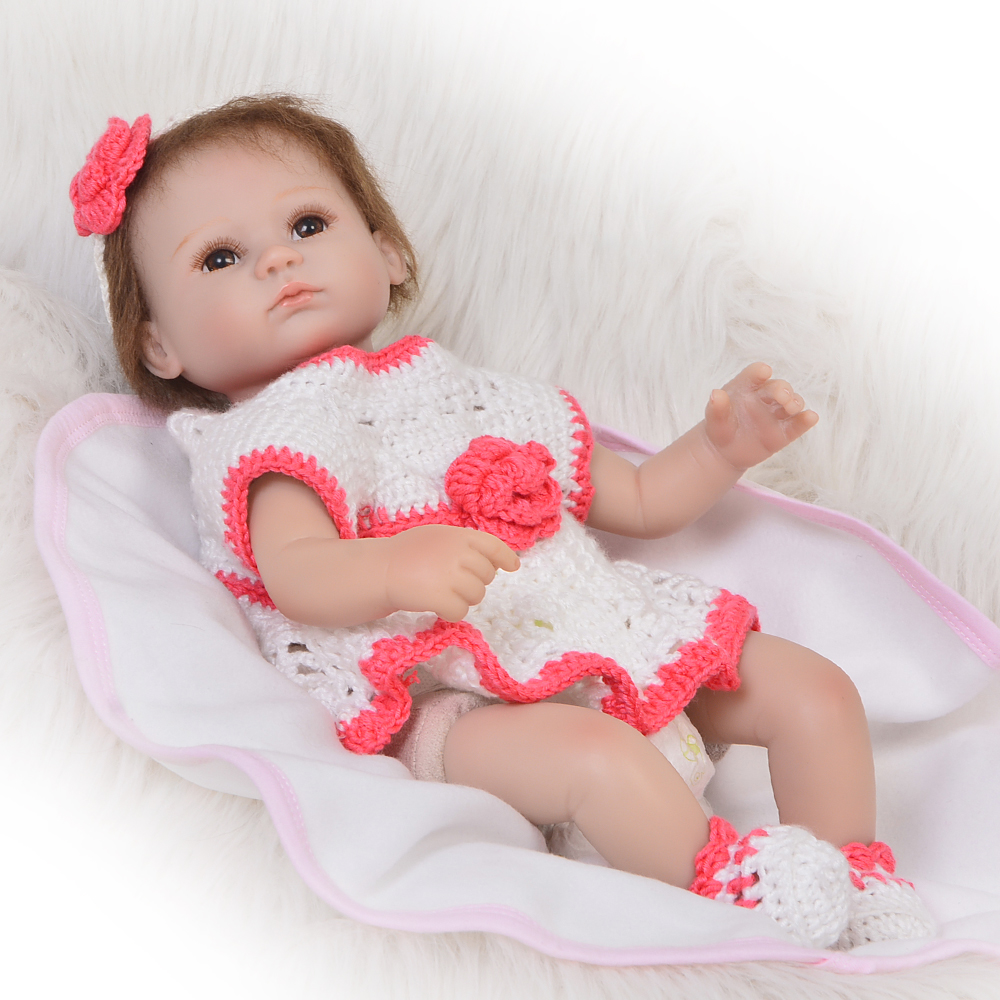 42cm Doll Reborn Baby adorable Girl Handmade Cotton Body Lifelike white skin fashion Toys bonecas play hosue toddler for sale42cm Doll Reborn Baby adorable Girl Handmade Cotton Body Lifelike white skin fashion Toys bonecas play hosue toddler for sale