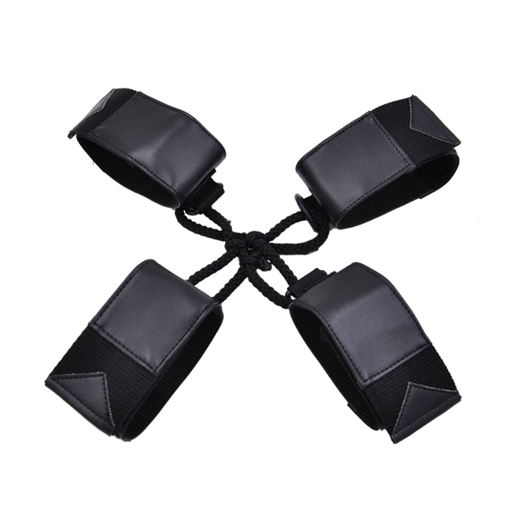 Buy XFMAX Harness Bondage, PU Leather Handcuffs Ankle Restraint set, Sex Adults Toy Women, Adult Roleplay Game Costume