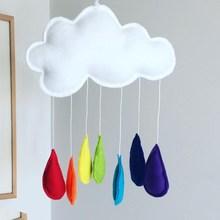 Ins Nordic Felt Cloud Rainbow Raindrop Pendant Kids Room Decoration Wall Hanging Ornaments Childrens Clothing Store Photo Props
