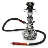 1PCS High Quality Black Metal Resin Leaves Small Hookah Nice Shisha 1 PVC Hose Best Gifts For Smoke Smoking Herb Tobacco Pipe