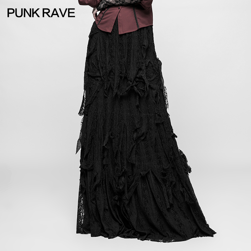 Gothic vintage Gorgeous Sexy Ladies Dancing Long Women Skirt Lace Fashion Victorian Party Q326