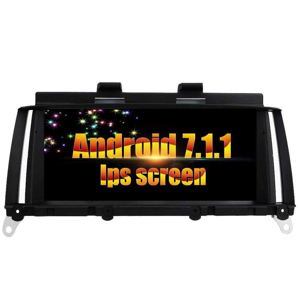 Pour BMW X3 F25 pour BMW X4 F26 Android 7.1.1 voiture stéréo lecteur audio dvd lecteur GPS Radio tête appareil stéréo tout en un Navi