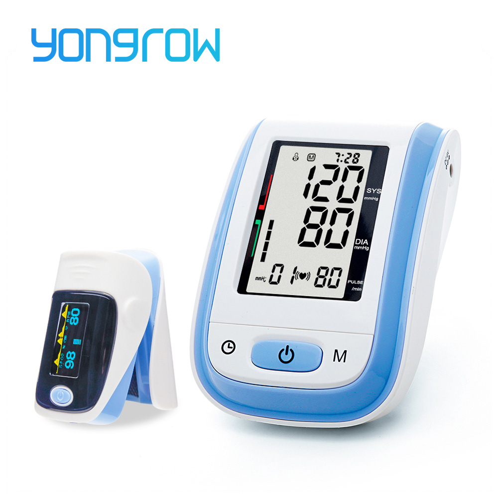Yongrow Medidor De Medidor de Pressão Monitor de Pressão Arterial Portátil Dedo Oxímetro de pulso oxímetro de pulso de dedo oxímetro de pulso