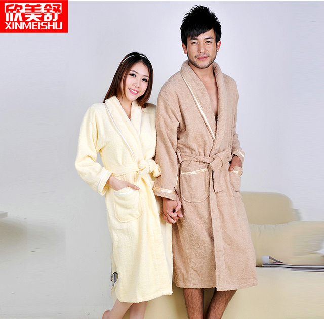 4 colors Light Thick Cotton Sleepwear Bathrobe
