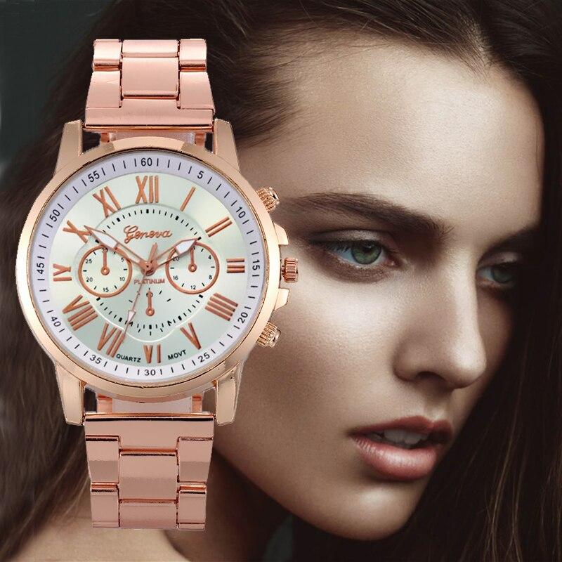 New Rose Gold Mesh Stainless Steel Women's Watches Luxury Waterproof Women Watch Girl Clock Ladies Wrist Watch Relogio Feminino