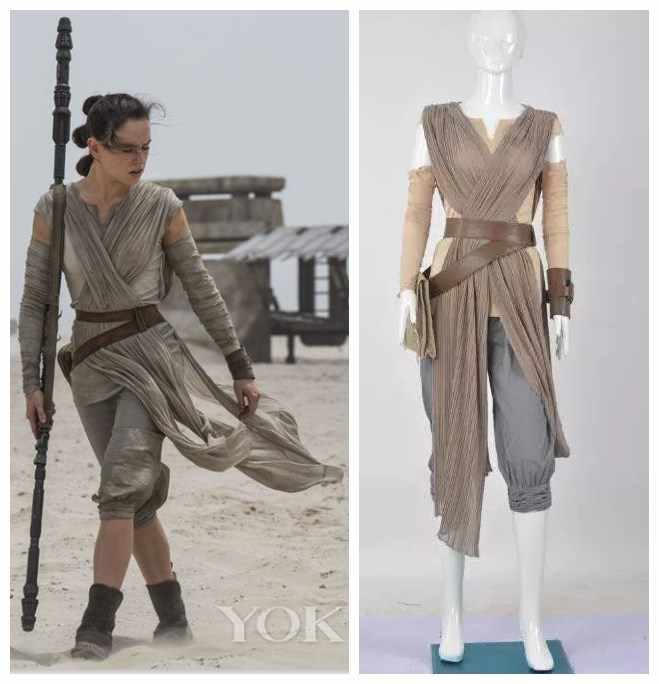 Rey Cosplay Costume from Movie Star Wars The Force Awakens