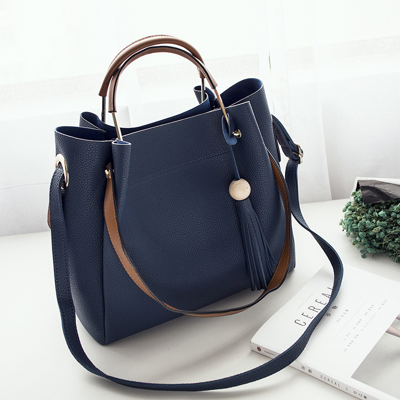 Fashion Designer Women Tassel Handbags Lady Casual Style Bucket Tote Bag Soft Shoulder Bag bolsos