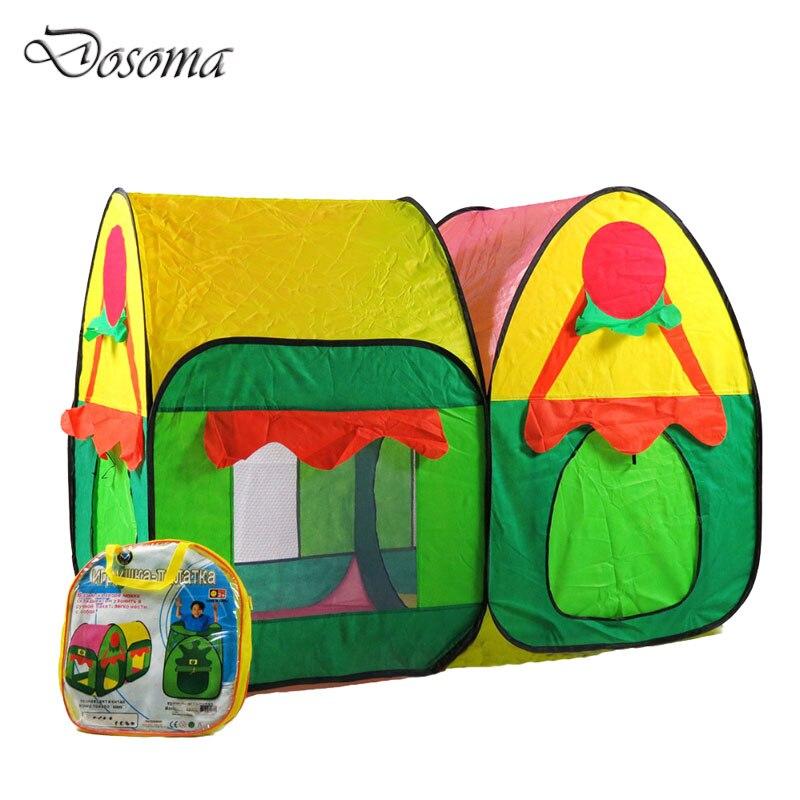 colorido doble carpa carpa jardn de la cabaa felices los nios casa de juegos al aire