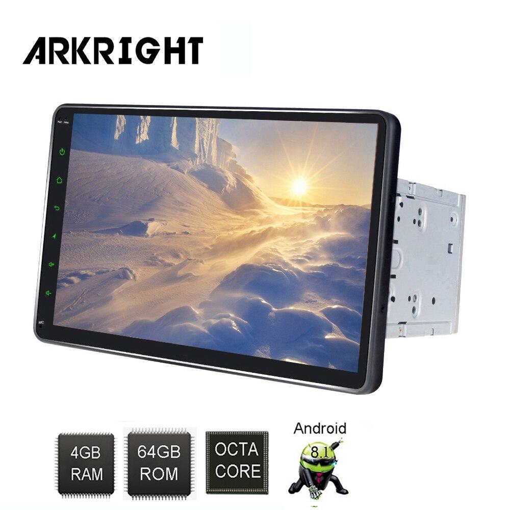 10.1 2din Android 8.1 autoradio audio stéréo 4 + 64 gb lecteur multimédia de voiture avec prise en charge DSP carte SIM 4G/partage Hotspot/zlink