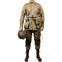 WW2 US Army Military ARMY M42 The soldiers COTTON FASHION Paratrooper uniform and BackPack Equipment Conbination and boots