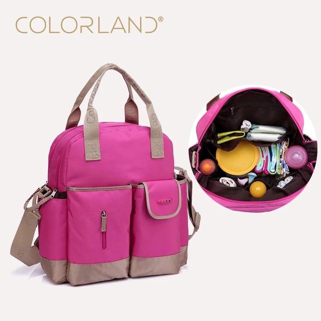 Marca Colorland Bolsa de Cochecito de Bebé Del Bebé De la Mamá Bolsas de Pañales Bolsa de Pañales Organizador Cochecito Madre Maternidad Bolsas de Pañales Mochila