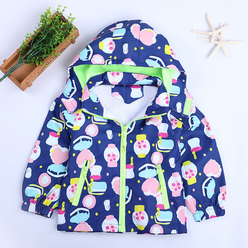 Halloween Candy Print Windbreaker Outwear Infant boys Hoody Coats Kids Girls Blazers Costume Overall Outerwear Clothing 2-6Years