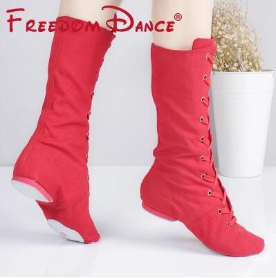 Kvalitet Cloth High Jazz Dance Boot Stage Dance Boots Piger Kvinder - Kondisko - Foto 5