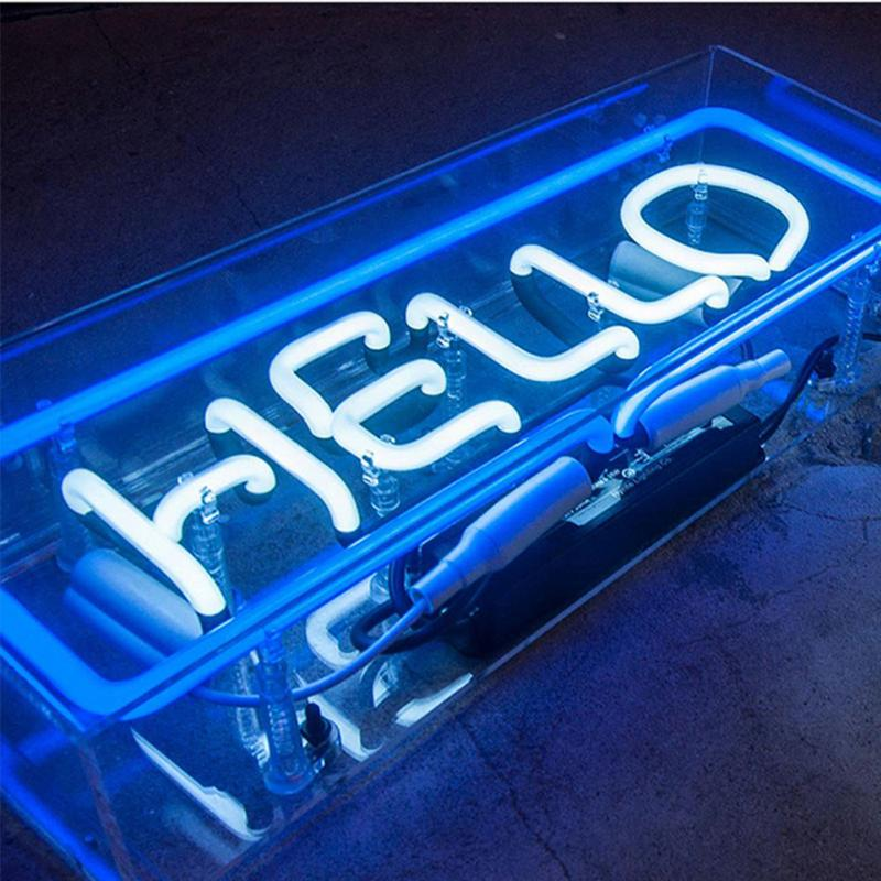 New Fancy Acrylic Box Neon Sign Ultra Bright Atmosphere Light Message Board Displaying Light For Bar,Restaurant,Store,Neon-Party