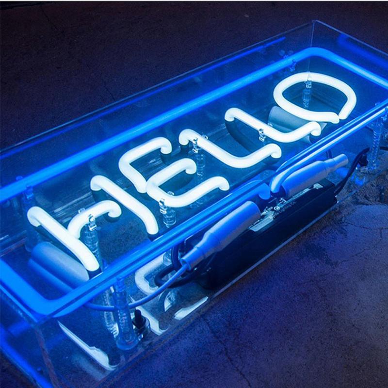 Nouveau panneau de Message lumineux d'atmosphère Ultra lumineuse de signe de néon de boîte acrylique de fantaisie affichant la lumière pour le Bar, Restaurant, magasin, néon-partie