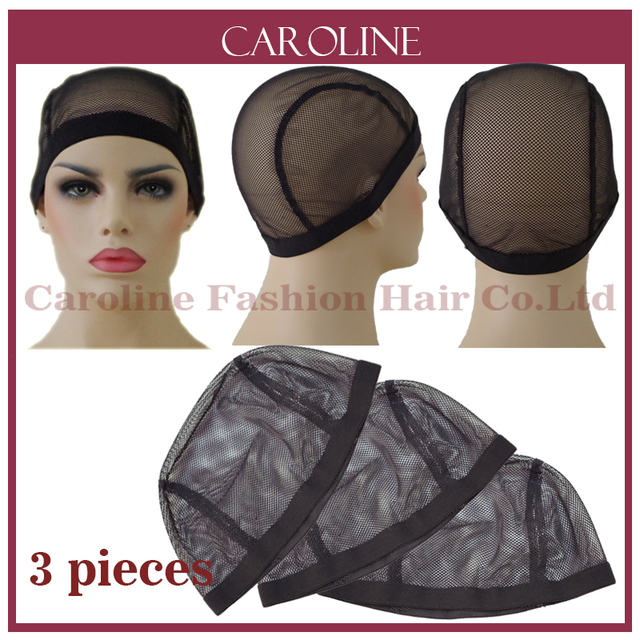 3pcs Wholesale Glueless Lace Wig Cap For Making Wigs With Adjustable Straps  Weaving Caps For Women Hair Net Hairnets Easycap 033 d493b4e9fa