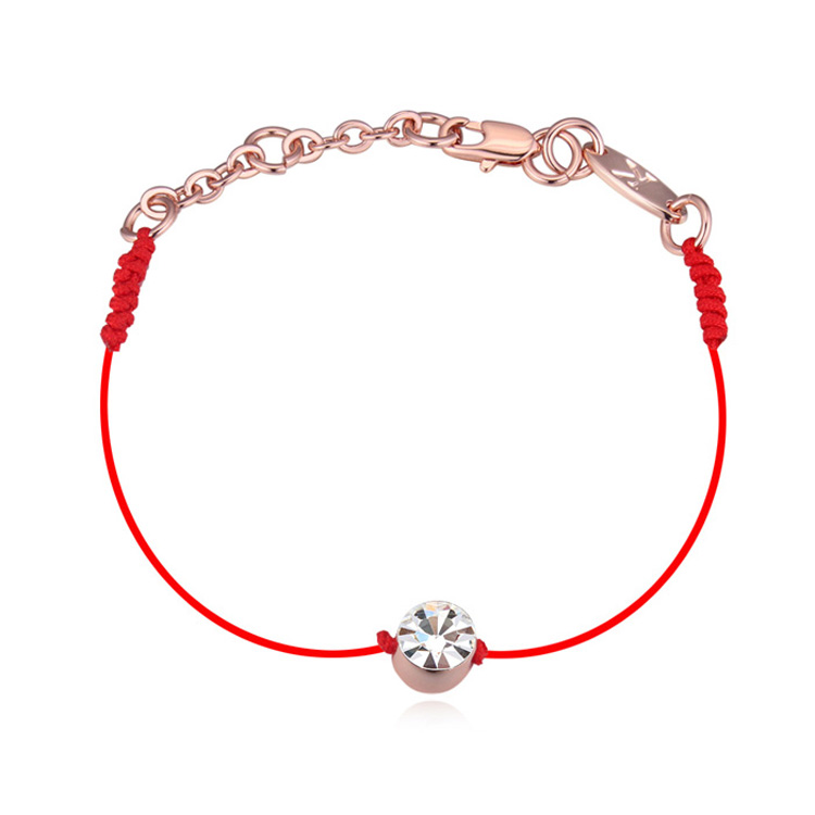 462446933ce4 US $3.99 |MALANDA Crystal From Swarovski Bracelets Thin Red Thread String  Rope White gold plating Bangles For Women jewelry Christmas Gift-in Charm  ...